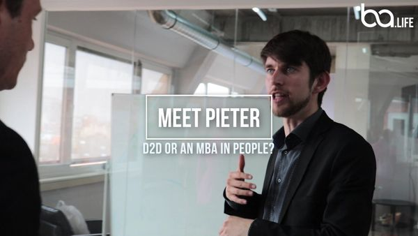 Meet Pieter : D2D or an MBA in people?
